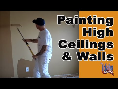 Diy Rolling High Ceilings Walls Interior Painting Tips