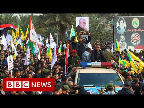 Qasem Soleimani: Crowds gather in Iraq for funeral procession - BBC News