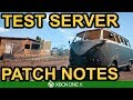 LATEST PATCH NOTES / PUBG Xbox Test Server