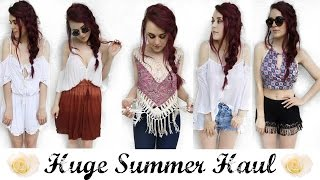 HUGE SUMMER TRY-ON HAUL - Free People, Tally Weijl, Pull & Bear & MORE!!