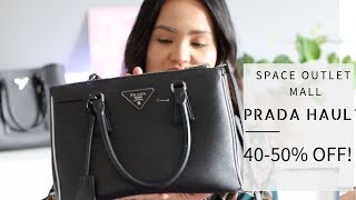 Prada Haul SALE ~40-50% off! Space Outlet&The Mall Florence Italy|Largest Prada Store