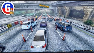 Massive Construction Site in the Tunnel WIP (Grand Theft Auto 5 Gameplay)