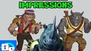 TMNT - Bebop & Rocksteady - Voice Impressions