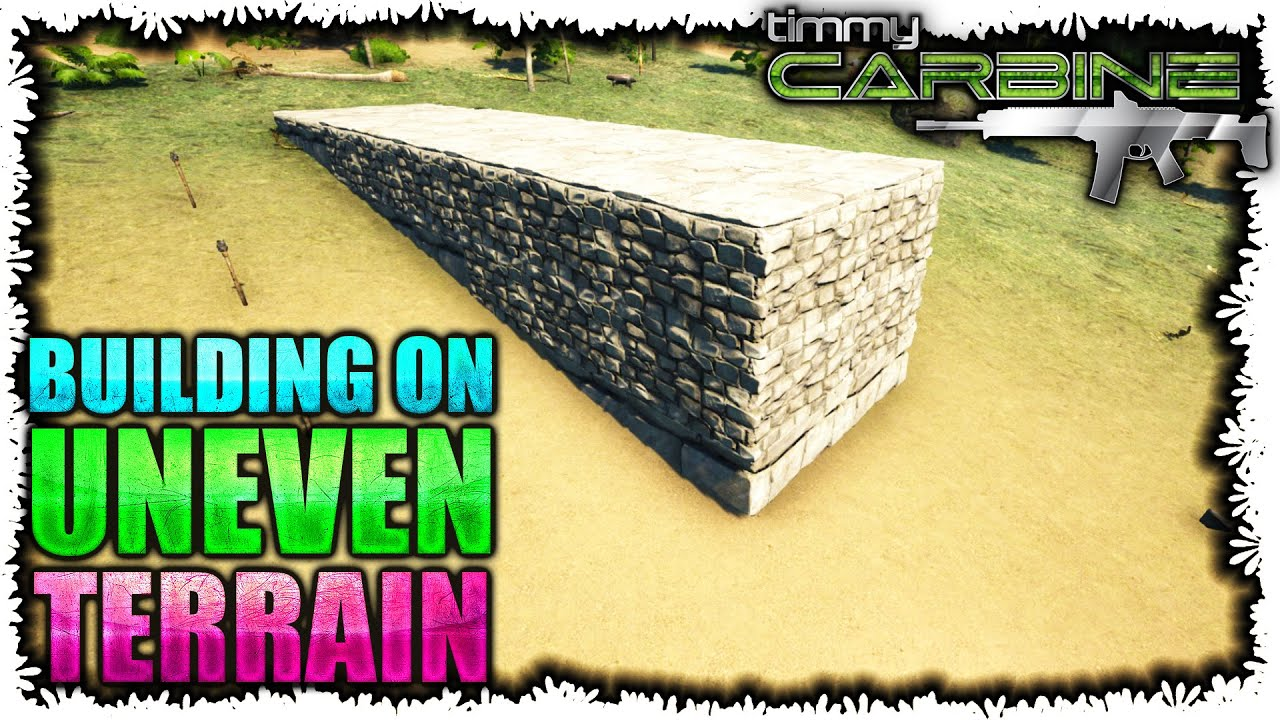 Ark:SE Building Tips || How I Build On Uneven Terrain || TimmyCarbine    YouTube