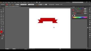 Simple banners. Tutorial Adobe Illustrator CC for beginners.