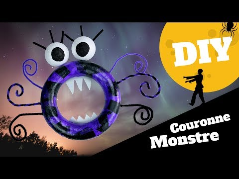 tuto diy halloween couronne monstre d 39 halloween bricolage facile pour enfants youtube. Black Bedroom Furniture Sets. Home Design Ideas
