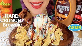 Gambar cover ASMR 바삭딱딱한? 브라우니+쿠키앤크림 아이스크림 리얼사운드 먹방  CRUNCHY BROWNIE COOKIE +ICE CREAM EATING SOUND CURIE. ASMR