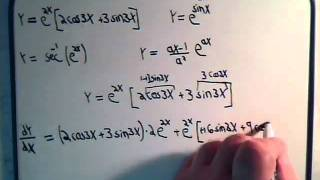 Derivatives Of Transcendental Functions Examples 1 & 2