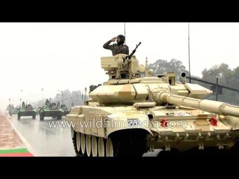 Indian Army's 'Bhishma' tanks roll down Rajpath in Delhi