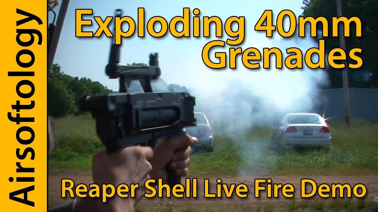 Airsoft grenade explosion