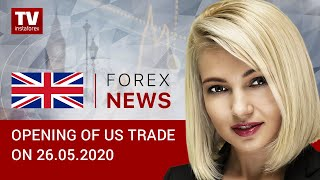 InstaForex tv news: 26.05.2020:USD subdued by rally of global stocks (USDХ, DJIA, WTI, USD/CAD)