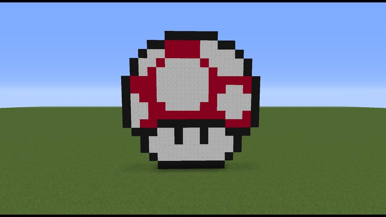 Amazing Minecraft Tutorial Ep.5: How To Make A Mario Mushroom   YouTube