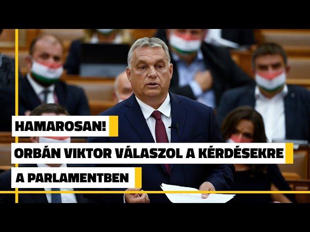 Azonnali kérdések és válaszok órája Orbán Viktorral - élőben a Parlamentből | Jövő TV