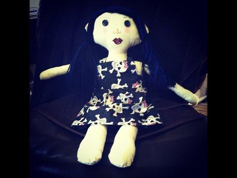 Making A Rag Doll Dress