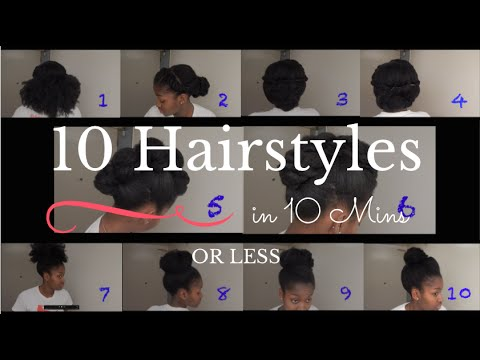 10 Quick Amp Easy Natural Hairstyles 4b 4c Natural Hair