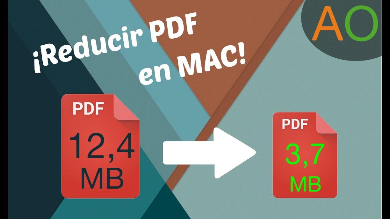 disminuir tamano de pdf mac