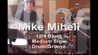 12 Bar Slow Blues Drum Groove For Guitar and Bass To Jam Along (No Fills) HQ
