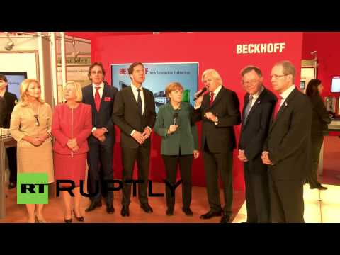 Germany: Merkel and Rutte officially open Hannover trade fair