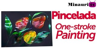 DIY - Pincelada / One stroke painting by Luz Angela