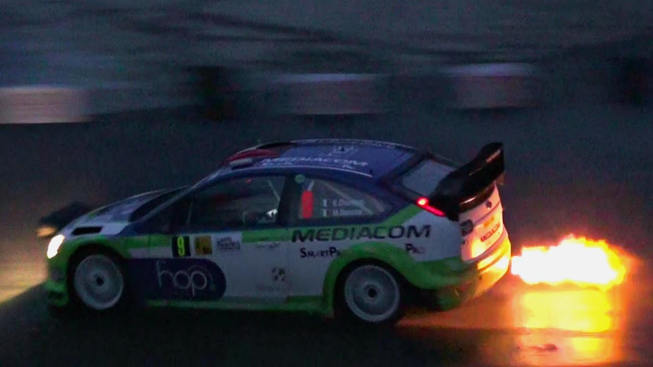Wrc Cars In Action At Night Youtube