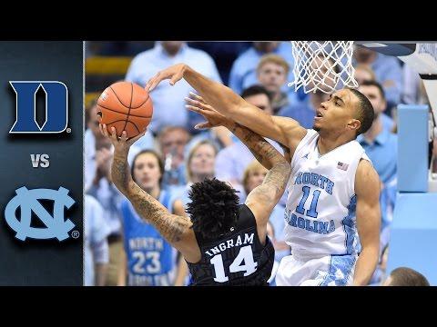 Duke vs. North Carolina Basketball Highlights (2015-16)