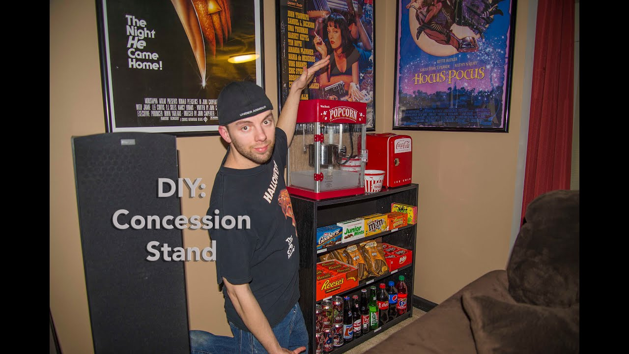 DIY Home Theater Concession Stand YouTube