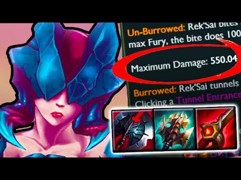 WHY DOES THIS EXIST - 500 True Damage With 3 Items - New OP Patch 7.12 Rek'sai Jungle Gameplay