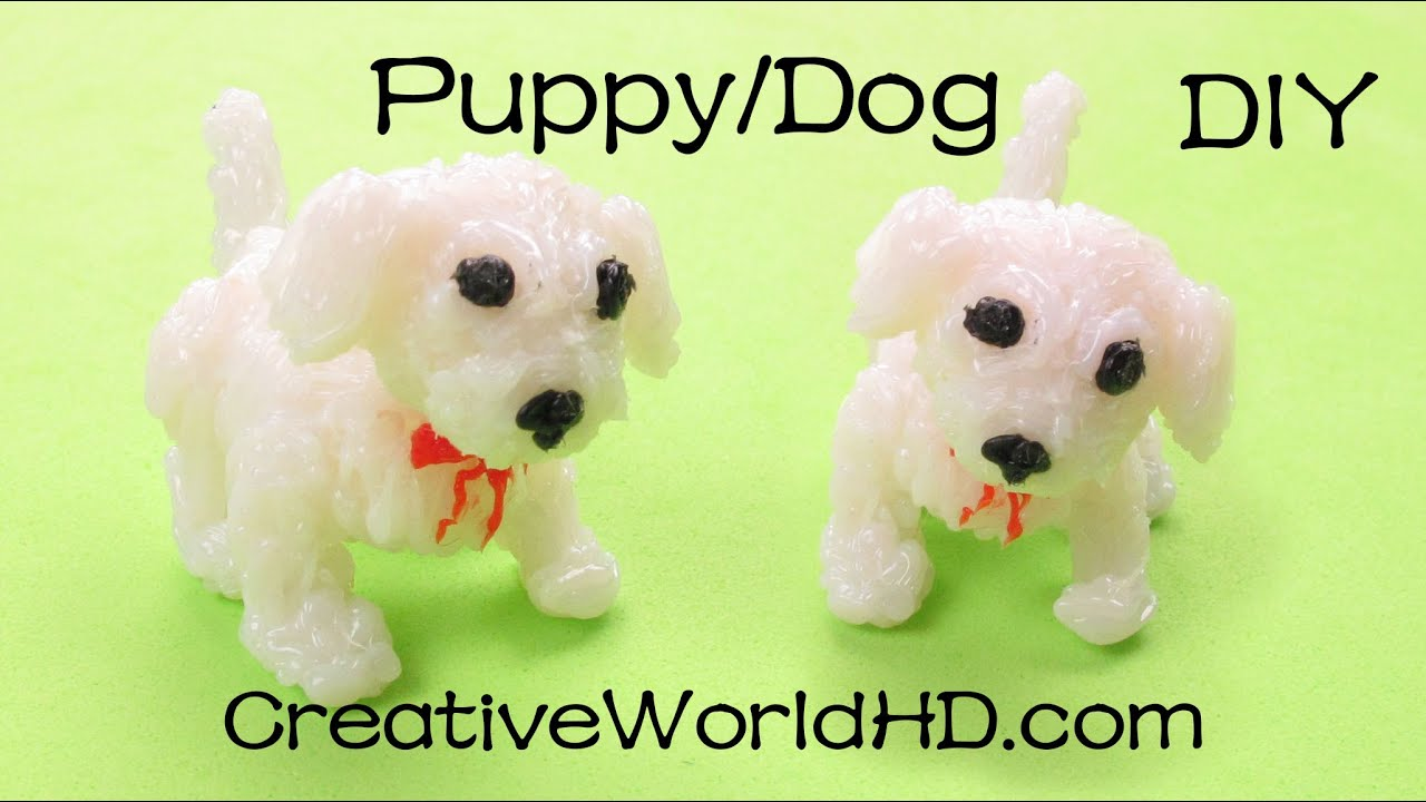 How To Make Puppy Dog 3d Printing Pen Creations Scribbler Diy Tutorial