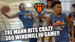 Tre Mann Hits CRAZY 360 WINDMILL IN GAME at HoopExchange!! | Young Vinsanity?!