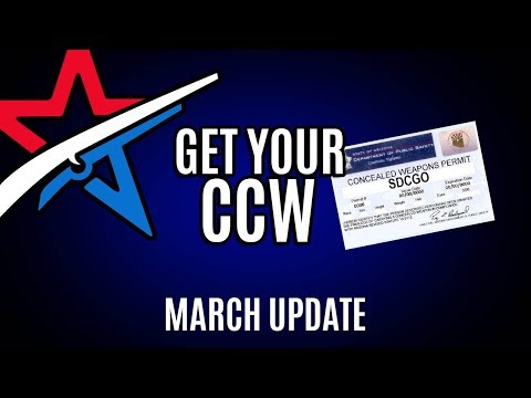 SDCGO March Report - Get your CCW in San DIego