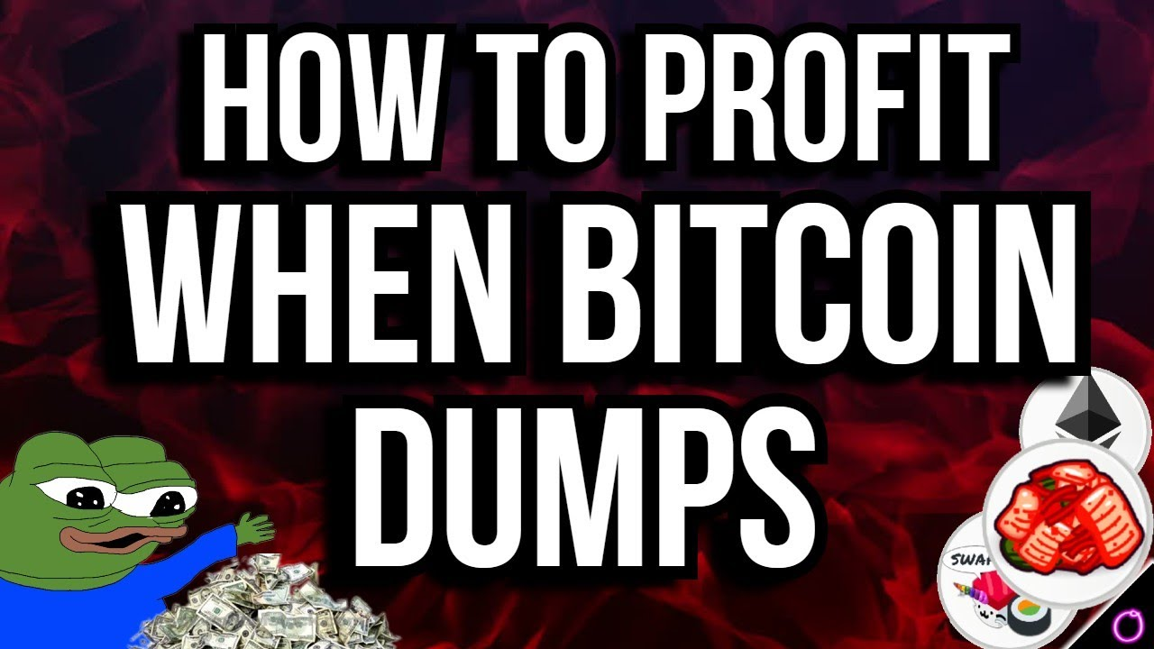 Insanely easy way to profit on the BITCOIN dump