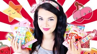 TRYING JAPANESE CANDY | Cherry Wallis