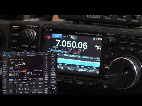 Icom RS-BA1.  Installing & Setting up Remote Control for your IC-7300 SDR Radio