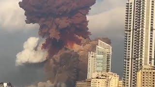 Фото Момент мощнейшего взрыва в Бейруте попал на видео