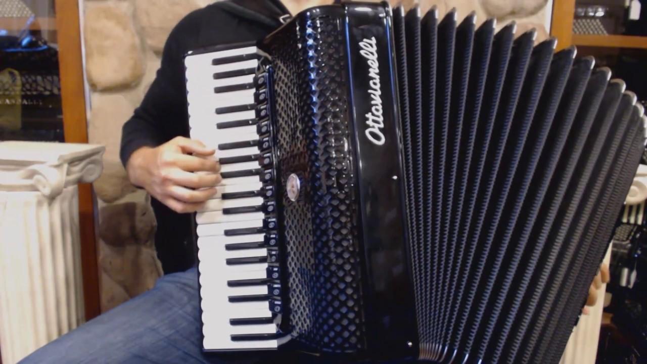 OTTASUPC120BK - NEW Black Ottavianelli Super Concerto Piano Accordion LMMMH  41 120 $7999