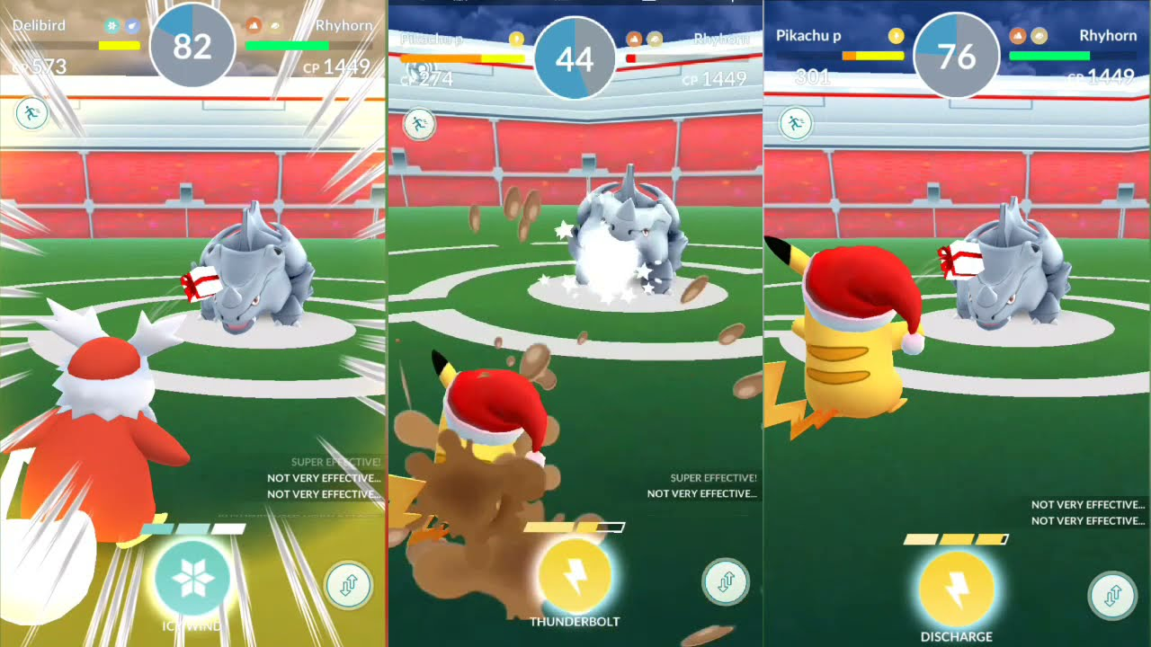 delibird and pikachu throwing gift in pokemon go youtube