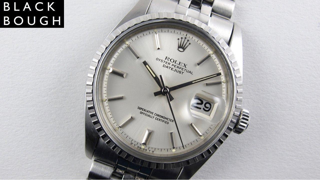 Rolex Oyster Perpetual Datejust Ref 1603 Steel Vintage Wristwatch Circa 1974