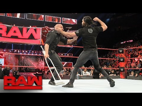 Thumbnail: Seth Rollins attacks Triple H: Raw, March 13, 2017