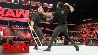 Seth Rollins attacks Triple H: Raw, March 13, 2017