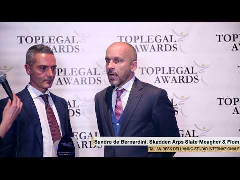 Sandro De Bernardini, Skadden Arps Slate Meagher & Flom  - TopLegal Awards 2017