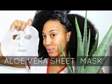 DIY  Aloe Vera Sheet Mask x Skincare