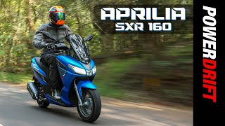 Giveaway Alert | Aprilia SXR 160 | First Ride Review | PowerDrift