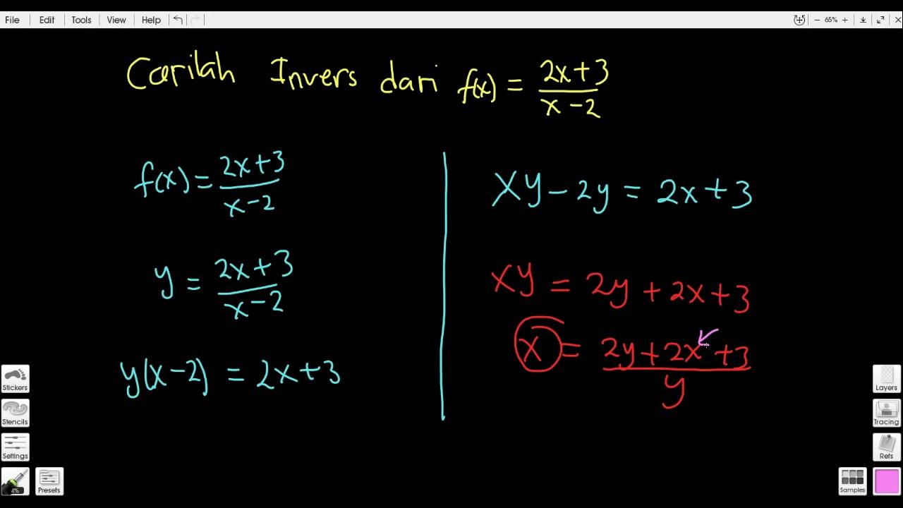 Invers Fungsi Part 3 Contoh Soal Matematika 10 Ipa Ips
