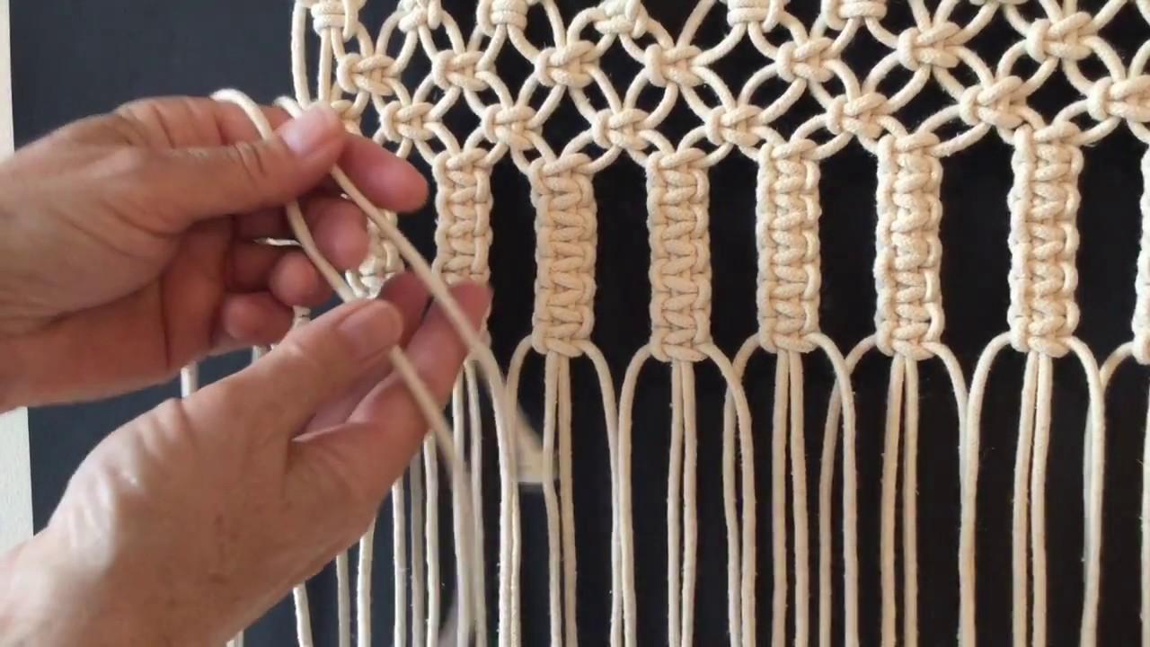 How To Do Macrame Knots Vertical Larks Head Youtube