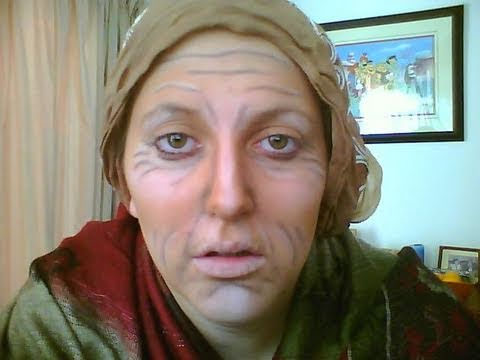 old lady makeup for halloween
