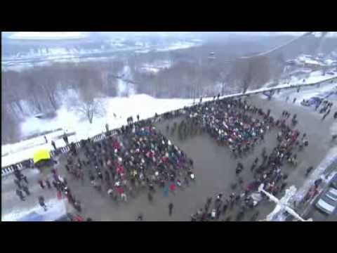 Flash Mob pour un mariage en Russie