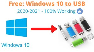 How to make a windows 10 bootable usb flash drive for free (Step by Step) - 2020 - 100% Working