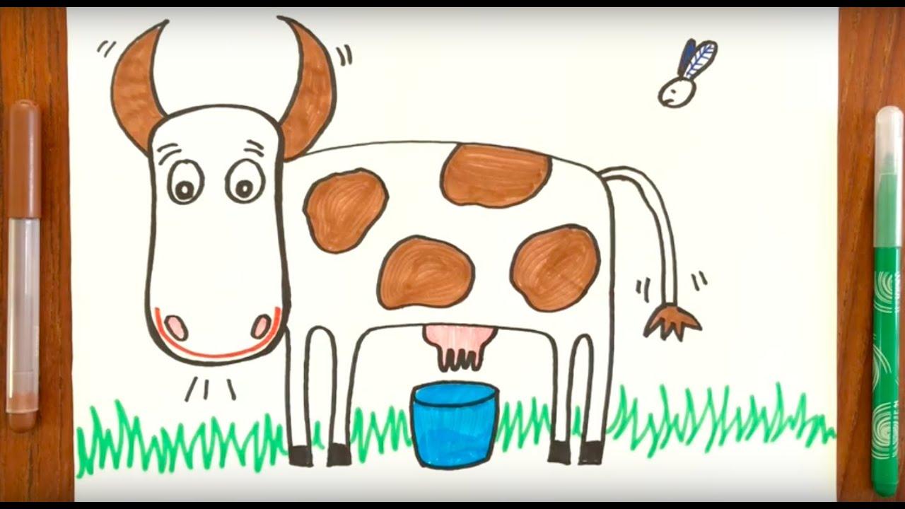 Jens Petersens ko / Børnesange med tegninger