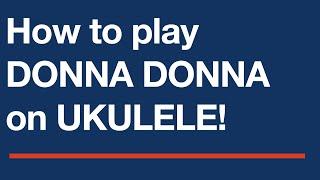 Donna Donna | Free ukulele tab sheet music