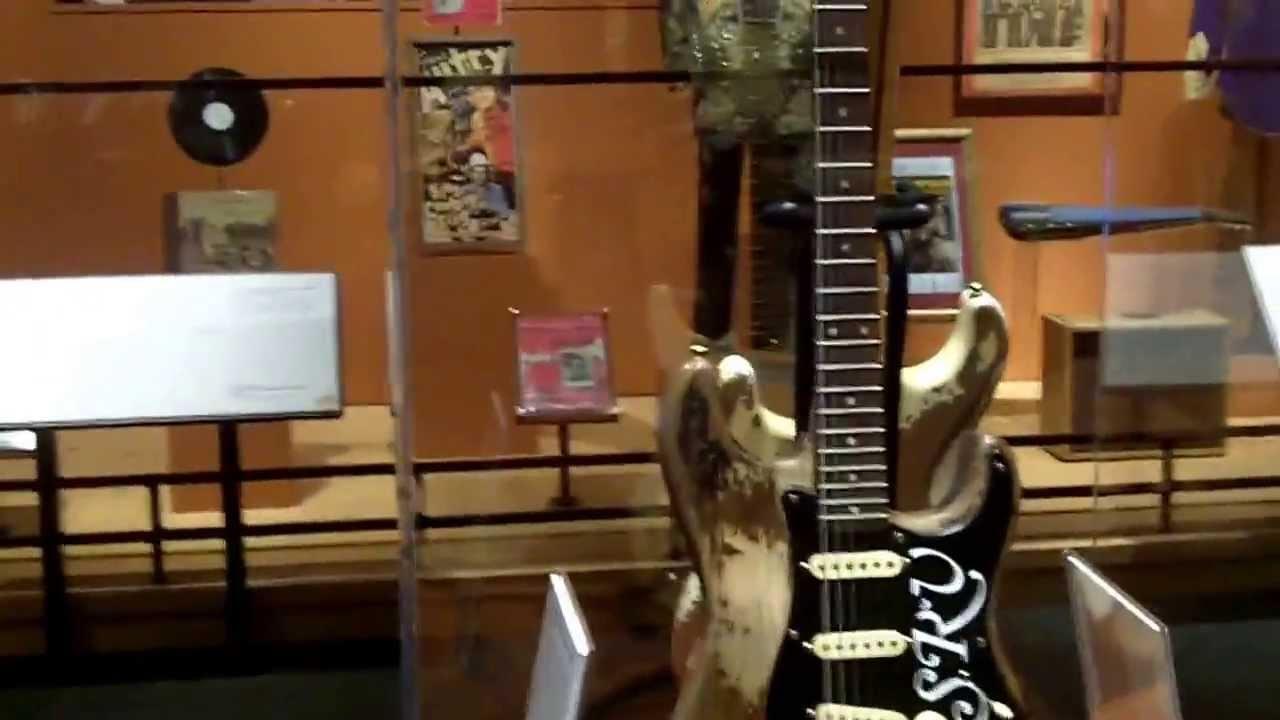 Stevie Ray Vaughan Displays In The Bob Bullock Museum Austin Texas